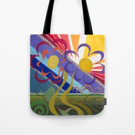 Flower Horizon Tote Bag