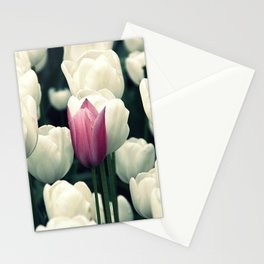 lila einsamblüte Stationery Cards