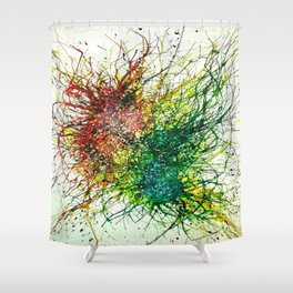 Particle Transference Shower Curtain