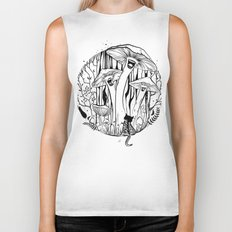 The Singing Mushrooms & The Zebra Cat Biker Tank