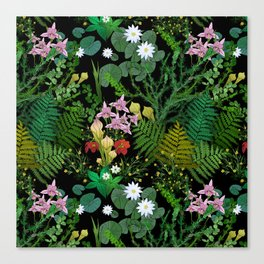 Botanical Bog Canvas Print