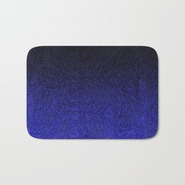Blue & Black Glitter Gradient Bath Mat
