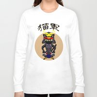 army Long Sleeve T-shirts featuring Cat Army by BATKEI