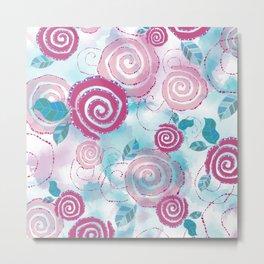 Abstract modern rose pattern Metal Print