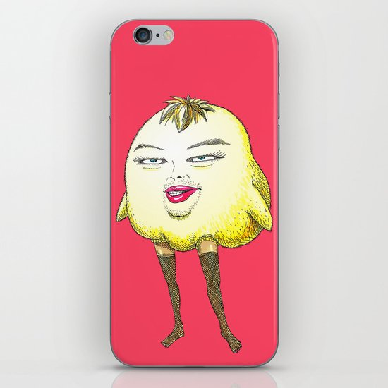 ugly angry angry baby bird iPhone & iPod Skin