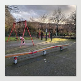 A Lonely Playground Scene Canvas Print