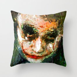 JOKER ART Throw Pillow