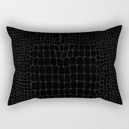 Black Crocodile Alligator animal print Rectangular Pillow