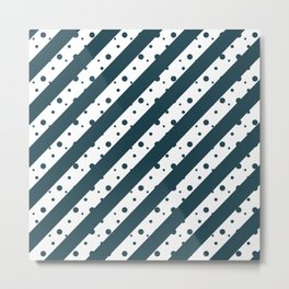 Stripes and Dots Metal Print