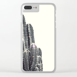 sparkling cactus Clear iPhone Case