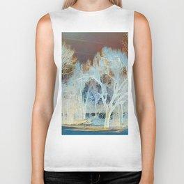 """""""Winter Trees By The Creek"""" Biker Tank"""