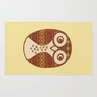 navajo Area & Throw Rugs featuring Navajo Owl  by Terry Fan