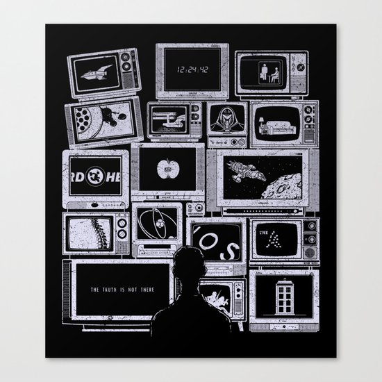 TV Addict Canvas Print