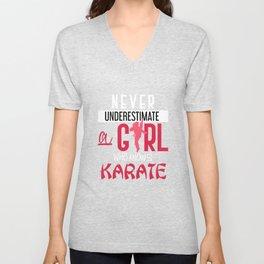 Karateka Girl Unisex V-Neck