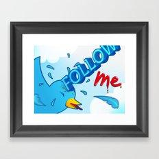 follow me! Framed Art Print