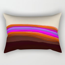 Orange, Purple, and Cream Abstract Rectangular Pillow