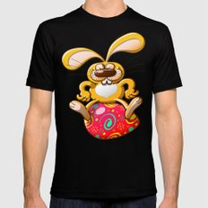 Proud Easter Bunny Mens Fitted Tee Black MEDIUM