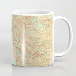 Melbourne Map Retro Coffee Mug