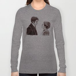 """""""Human Nature"""" Doctor Who Inspired Sketch Long Sleeve T-shirt"""