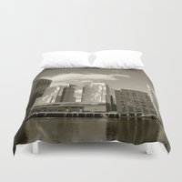 buildings Duvet Covers featuring City Buildings by BACK to THE ROOTS