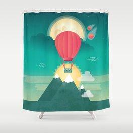 Sun, Moon & Balloon Shower Curtain