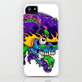 Skater zombie. iPhone Case