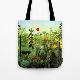 """Henri Rousseau """"Exotic Landscape with Lion and Lioness in Africa"""", 1903-1910 Tote Bag"""