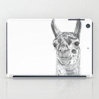 llama iPad Cases featuring Llama by Condor