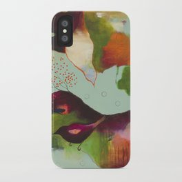 """Clouds Gave My Soul An Idea"" Original Painting by Flora Bowley iPhone Case"