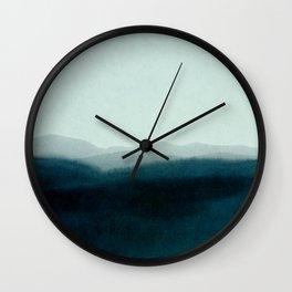 morning mist scenery Wall Clock