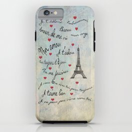 Paris Amour Valentines Design  iPhone Case