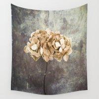 hydrangea Wall Tapestries featuring Dried Hydrangea by Maria Heyens