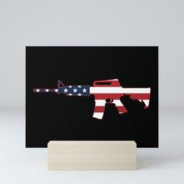 AR-15 Stars & Stripes Rifle Mini Art Print