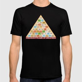 ron swanson's pyramid of greatness T-shirt