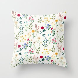 Spring Botanicals Throw Pillow