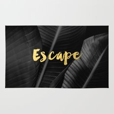 Escape - gold Rug
