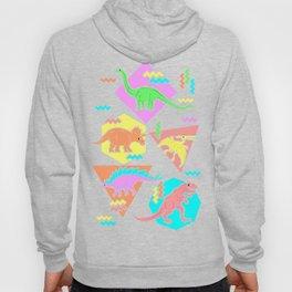Nineties Dinosaur Pattern Hoody