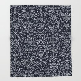 Wave of Cats Throw Blanket