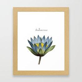 Kindness Wins Framed Art Print