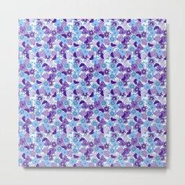 Purple & Blue Floral Metal Print