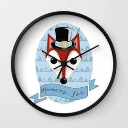 Meneer Fox Wall Clock
