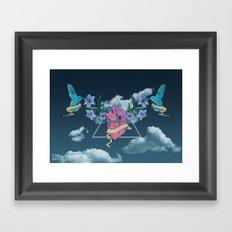 Heart In The Sky Framed Art Print