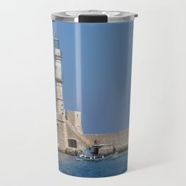 Lighthouse of Chania, Crete, Greece Travel Mug