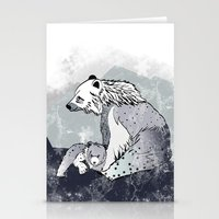 nordic Stationery Cards featuring Nordic Bears by Pencil Studio