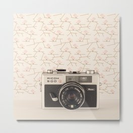Film Camera (Retro and Vintage Still Life Photography)  Metal Print