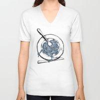 pasta V-neck T-shirts featuring Pasta!! by EGARCIGU