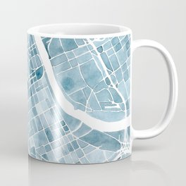 Map Nashville Tennessee Blueprint City Map Coffee Mug