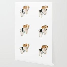 Beagle Art, beagle puppy, digital painting Wallpaper