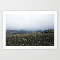 Fog & Rocks Art Print