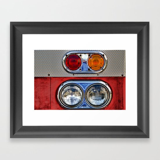 Old Fire Lights Framed Art Print